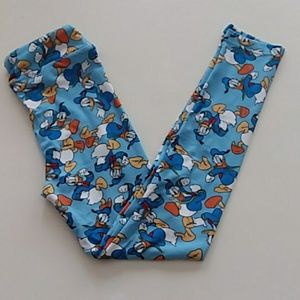 Lularoe blue Donald duck large xl Disney leggings
